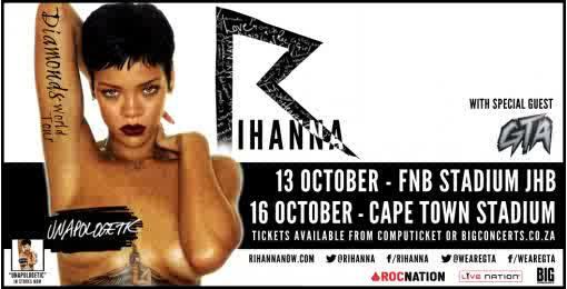 Get set Johhanesburg and Cape Town.