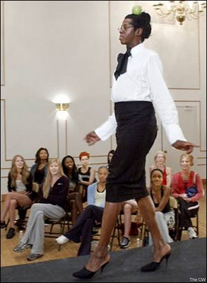 The Qeen of the Catwalk working it! Work it J :-D.
