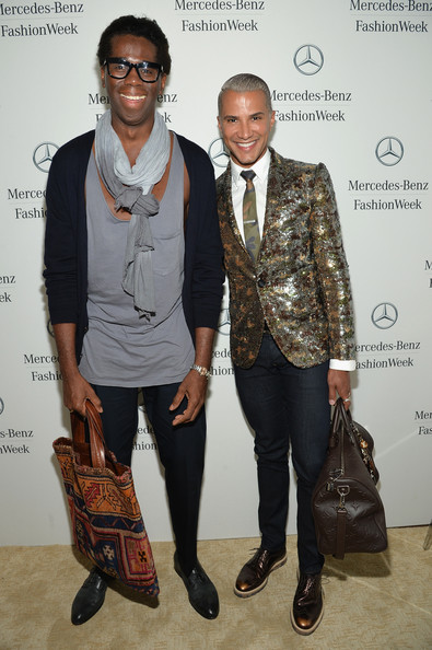 Miss Jay and Mr Jay at the Mercedes Benz Fashion Week.