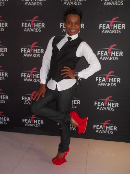 Olwethu - rocking some red hot heels.