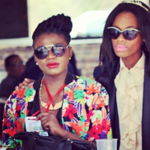 Lesiba Mothibe rocking a floral top.